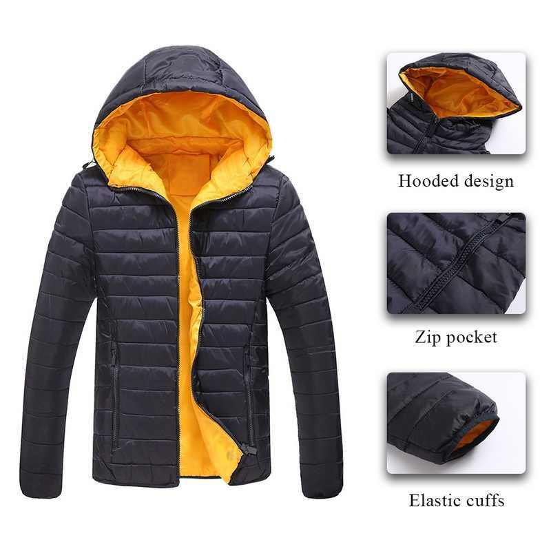 Adisputent 2019 男性のフード付きフグジャケットカジュアル秋冬パーカー襟厚みのスリムソフトシェル暖かいコート屋外オム
