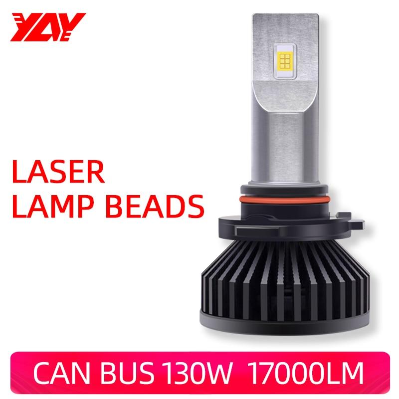 Ура Автомобильный светодиодный головной светильник 130W 5500K лампы 17000LM модернизации супер яркий H1 H4 H7 9005 H11 9012 туман светильник лазерная голов...