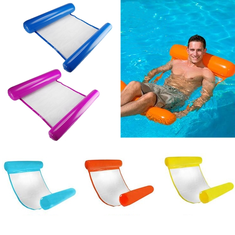 Summer Swimming Mattress Inflatable Floating Bed Swimming Pool Water Hammock Recliner Beach Lounge Bed For Kids Adults