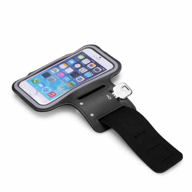 Uniwersalny Sport sport opaska na ramię do iphone'a 6X7 8 6s dla samsunga dla Xiaomi dla huawei Arm pas taśmowy torba na siłownię etui na telefony 5.5 cala