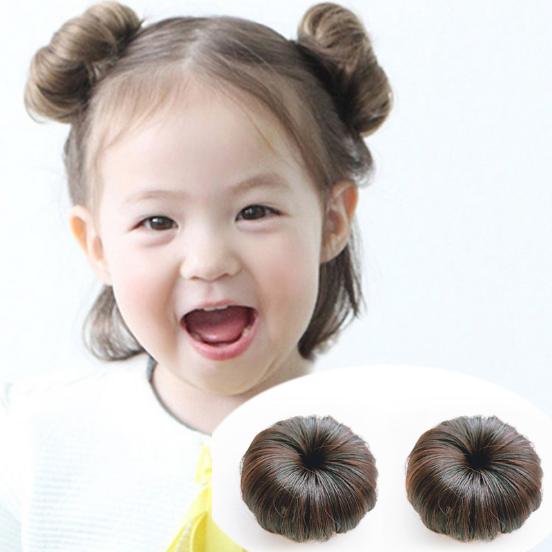 Cute Baby Girls Hair Wig Fashion Realistic Fluffy Multicolor Short Curl Synthetic Wig Hair Cover Headwear