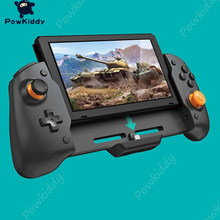 POWKIDDY For N-Switch Handheld Controller Grip Console Gamepad Double Motor Vibration Built-in 6-Axis Gyro Sweat-Proof Design