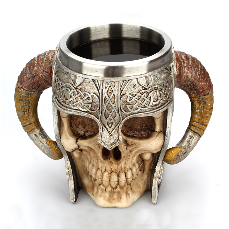 Stainless Steel skull Water Bottle Drinking Tea Beer Mug Coffee Cup Drink Bottle Gift
