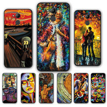 edvard munch the scream painting Silicone Cases FOR HUAWEI Honor 8X 8 9 10 20 Lite 20Pro 10i 20i Play V20 V10 V9 V8 Phone cover(China)