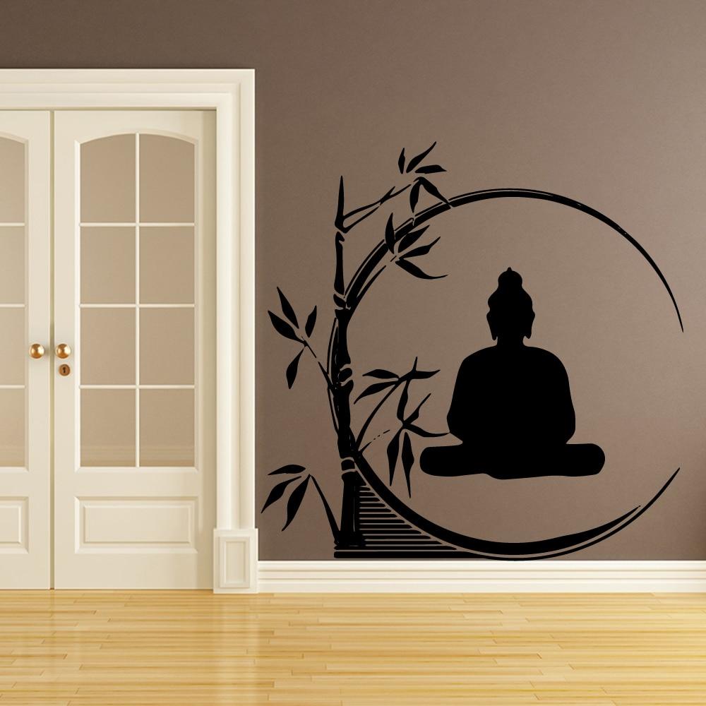 Adesivo de buda artístico de parede, decoração de casa, sala de estar, quartos infantis, decoração de parede, murais adesivos
