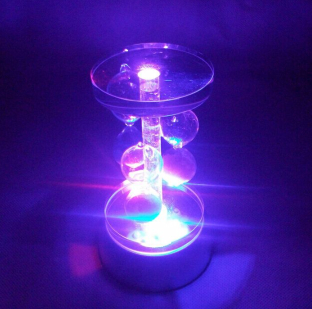 Mini LED Colorful Luminous Base Light Crystal Display Base Stand Holder For Glass Transparent Objects Lamp Base