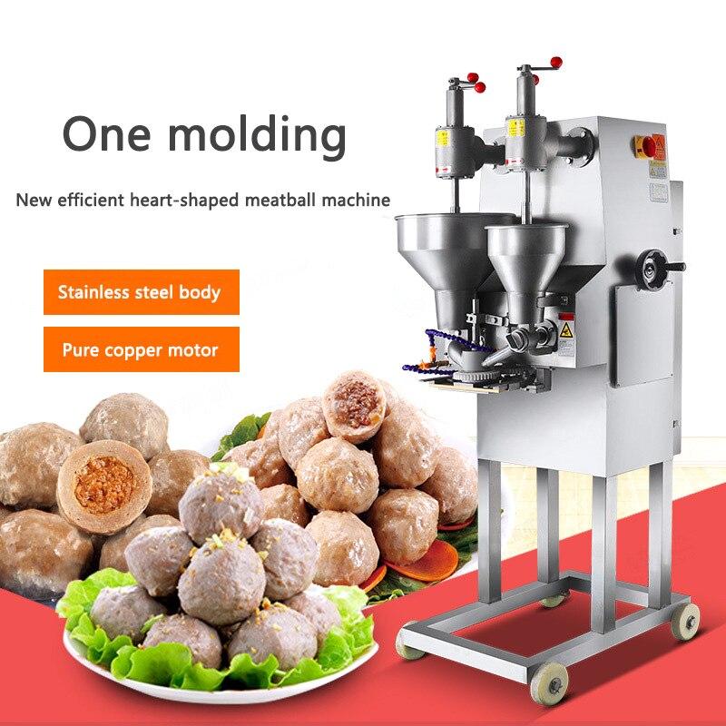 New Upgrade Commercial Meatball Maker XZ-609 Stuffing Meatball Machine Automatic Meatball Molding Machine 220-230pcs/min 1.5kw