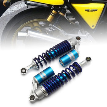 280mm 320mm 340mm 380mm 400mm Silver Blue Motorcycle Air Shock Absorber Rear Suspension ATV Quad Scooter Dirt Bike D30 one pair 280mm motorcycle air shock absorber rear suspension for honda ymaha suzuki kawasaki aprilia benelli ktm