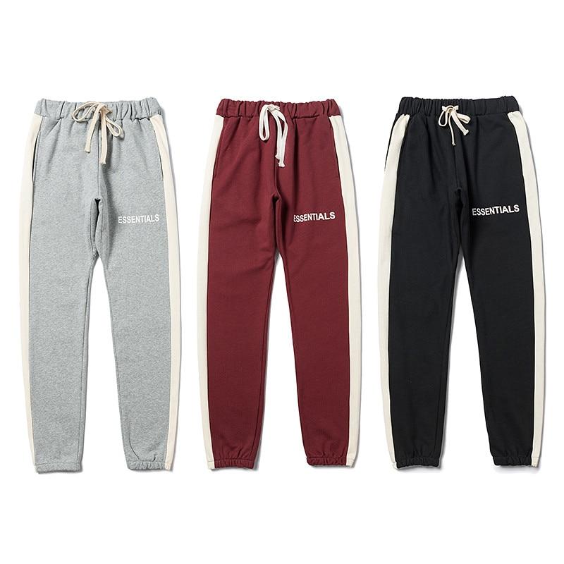 FOG Essentials Logo Printed Sweatpants Kanye West 1:1 Streetwear Essentials Casual Joggers Trousers Pants