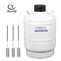 cryogenic liquid nitrogen tank 15l cylinder 5 years warranty sperm nitrogen gas container dewar vessel 15
