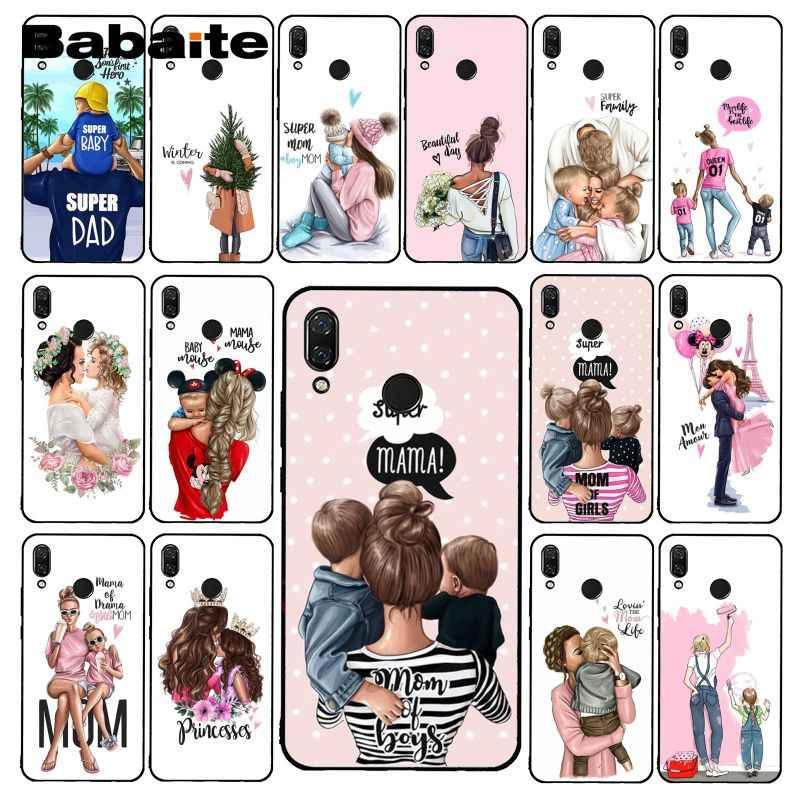 Babaite الأزياء فتاة سوداء ملكة أمي و الطفل حقيبة لهاتف xiaomi Redmi8 4X 6A S2 5A 7A Redmi5 5 زائد Note5 7 6Pro 8Pro