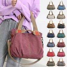 14 Colors Women Canvas Shoulder Bag Ladies Hobos Totes Large Vintage Handbags Female Crossbody Bags for 2019