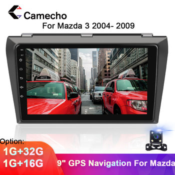 Camecho 2din Car Multimedia MP5 Player Android 8.1 Car DVD GPS Radio Stereo 1G 16G Car Audio Radio Stereo For Mazda 3 2004-2009 image