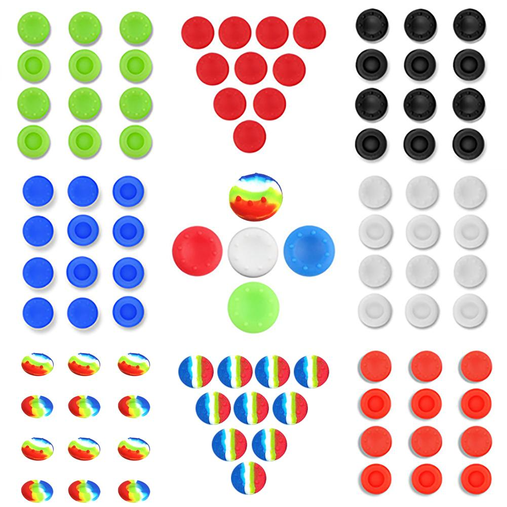 10Pcs Silicone Thumbstick Cap Covers for Microsoft Xbox One, Xbox 360, Sony PS4 Analog Controller Thumb Keys Gaming Accessories