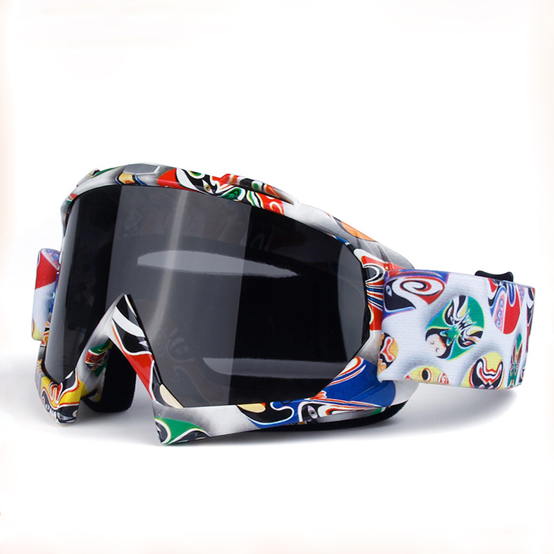 Adjustable Motorcycle Goggles Dust Proof Padded Soft Foam Ski Riding Glasses For Men Women