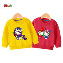 teenage girls sweatshirts 2019 autumn Baby Sweatshirts hello kitty Long-Sleeve Pullover Fashion toddler cartoon outfit size 2T