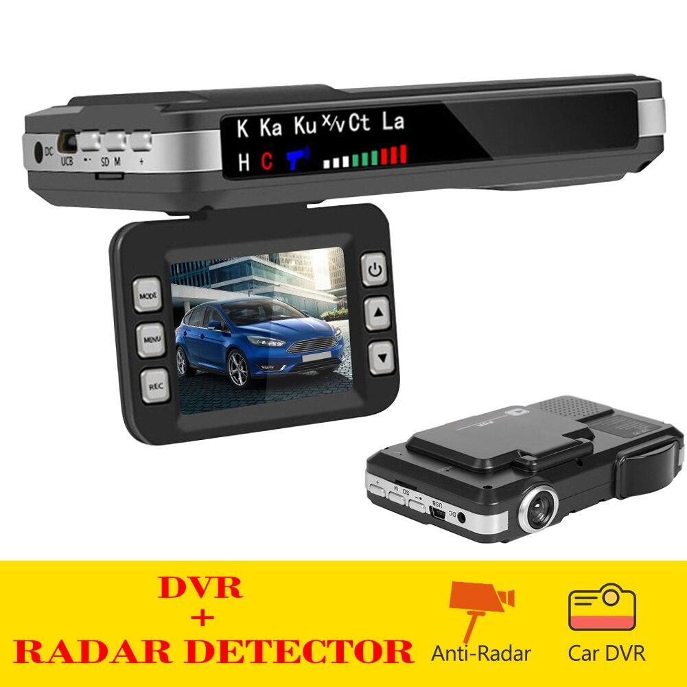 Английский и русский голосовой радар-детектор 2 в 1 Автомобильный видеорегистратор приборная панель камера измеритель скорости мобильный с...