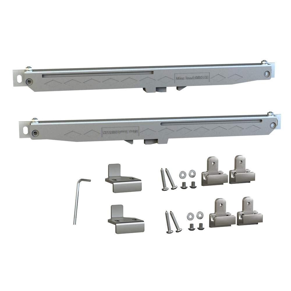 Paquet de 2 mécanisme de fermeture souple gris avec Tension à ressort pour barre de porte coulissante