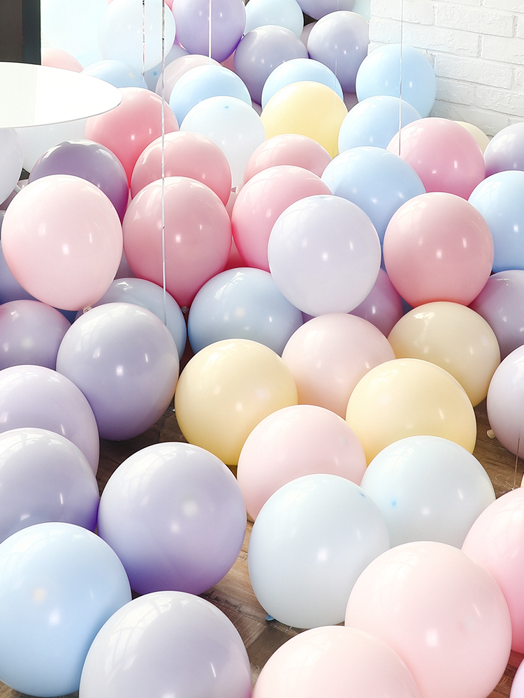 STARLZMU <font><b>100PCS</b></font> Macaron Latex Balloons Helium <font><b>Ballon</b></font> Birthday Party Decorations Adult 1st Birthday Baby Shower <font><b>Foil</b></font> Balloon image