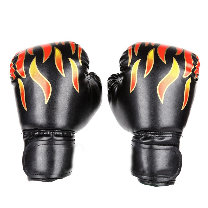 HIGH Quality Children <font><b>fight</b></font> boxing Women/Men Boxing Gloves Leather Thai Boxe Mitts Sanda Equipments image
