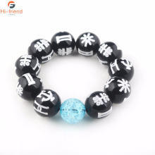 New Fashion Black Panther Wakanda TChalla KIMOYO Beads Bracelet Rune With Crystal Men Women Jewelry