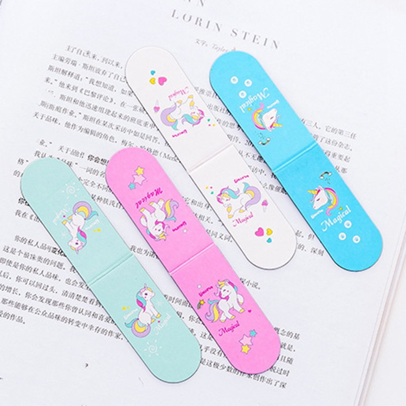 Cute Pink Girl Heart Cartoon Unicorn Magnet Bookmark Paper Clip School Office Supply Escolar Papelaria Gift Stationery