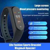 M4 Braccialetto Intelligente di Frequenza Cardiaca Pressione Sanguigna Smartband Per Il Fitness Traker Bluetooth di Sport Impermeabile Banda Intelligente