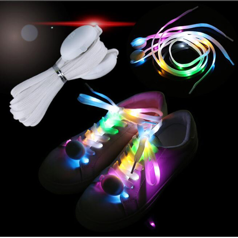 LED Light Illuminating Lace Glowing Boots Laces Colorful Illuminated Shoelaces Sports Sneakers Laces High Quality Nylon Lace