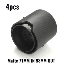Matte Real Carbon Fiber Exhaust tip Exhaust 0ipe  For BMW M2 F87 M3 F80 M4 F82 F83 M5 F10 M6 F12 F13 X5M X6M for bmw m2 carbon gear base cover m2 f87 e92 m3 f80 m4 f82 f10 m5 m6 f85 x5m f86 x6m gear surround cover for right hand drive