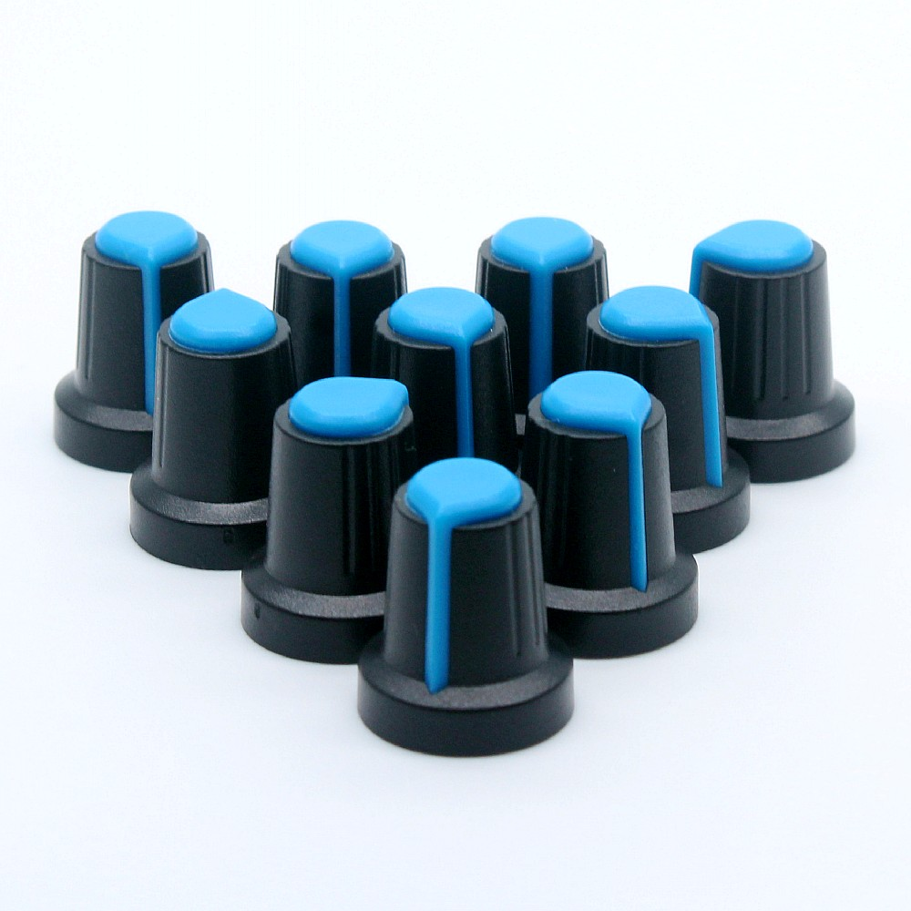 10PCS Potentiometer Plastic Knob Encoder  Audio Knobs