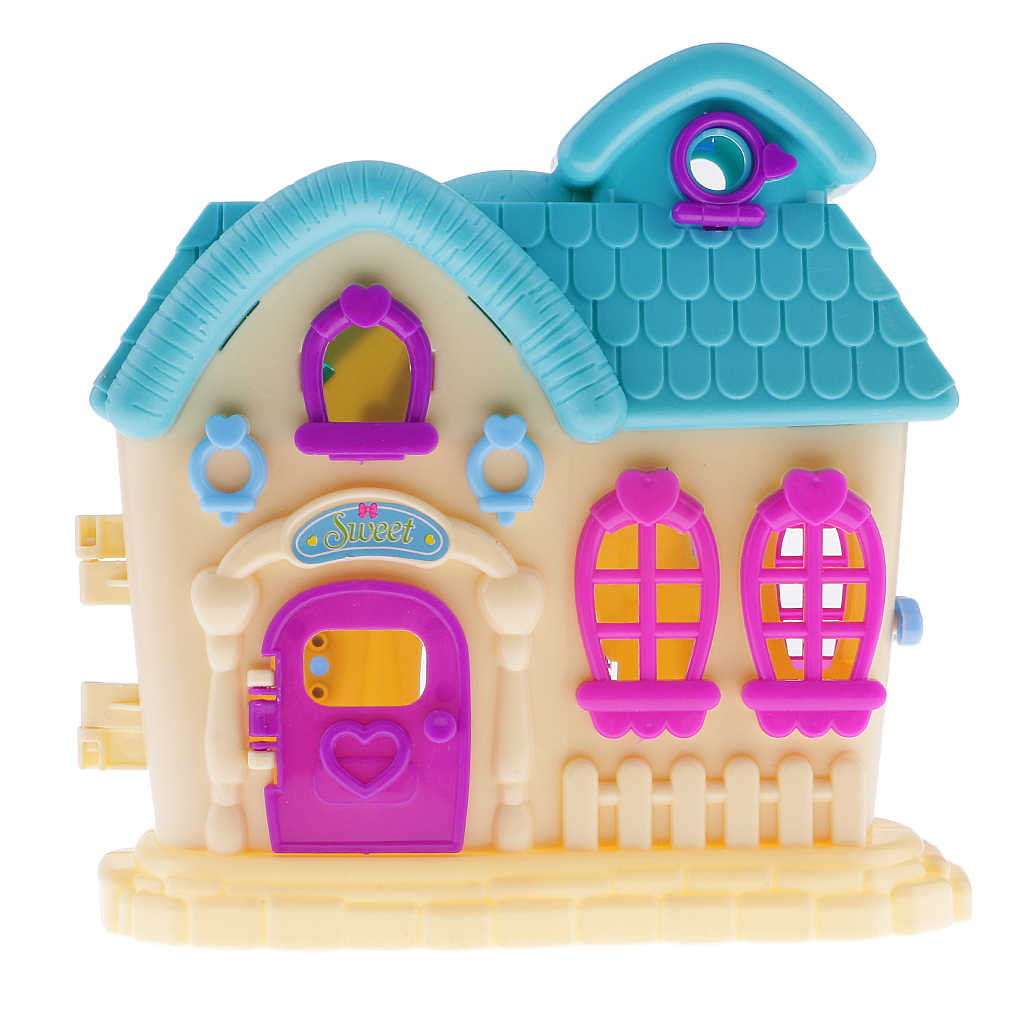Random Color Dolls Toy Villa House for Barbi Dolls Furniture Accessories Kid Pretend Toy Xmas Children Birthday Gift Collection