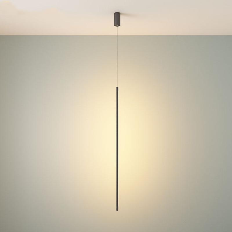 Moderno Striscia Lampade a sospensione Soggiorno camera Da Letto Comodino Lampada A Sospensione A LED Linea di illuminazione Lamparas De Techo Colgante hanglamp
