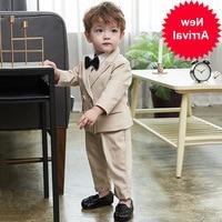 for Boys Suits Weddings Kid Khaki Blazers for little Boys Clothes Sets Boys Prom Suits Children's Blazer Suit for Boy Clothing