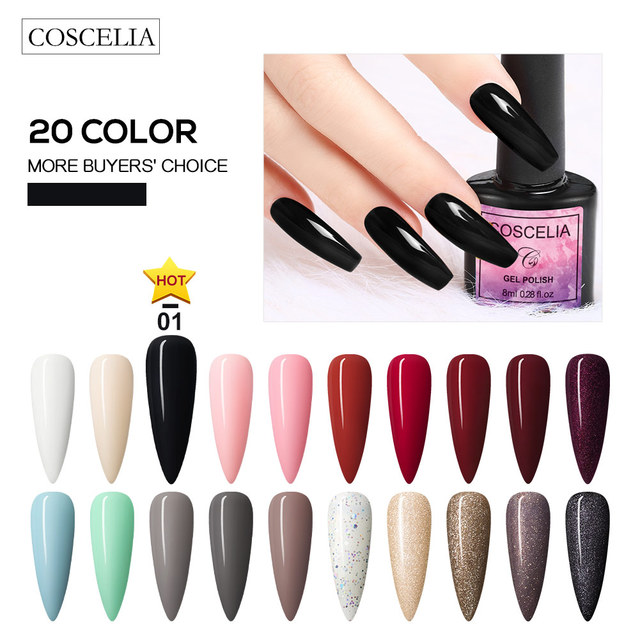 COSCELIA US Warehouse Clearance Nail Set UV LED Lamp Dryer Nail Gel Polish Kit Soak Off Manicure Tools Set For Nail Art Tools 3