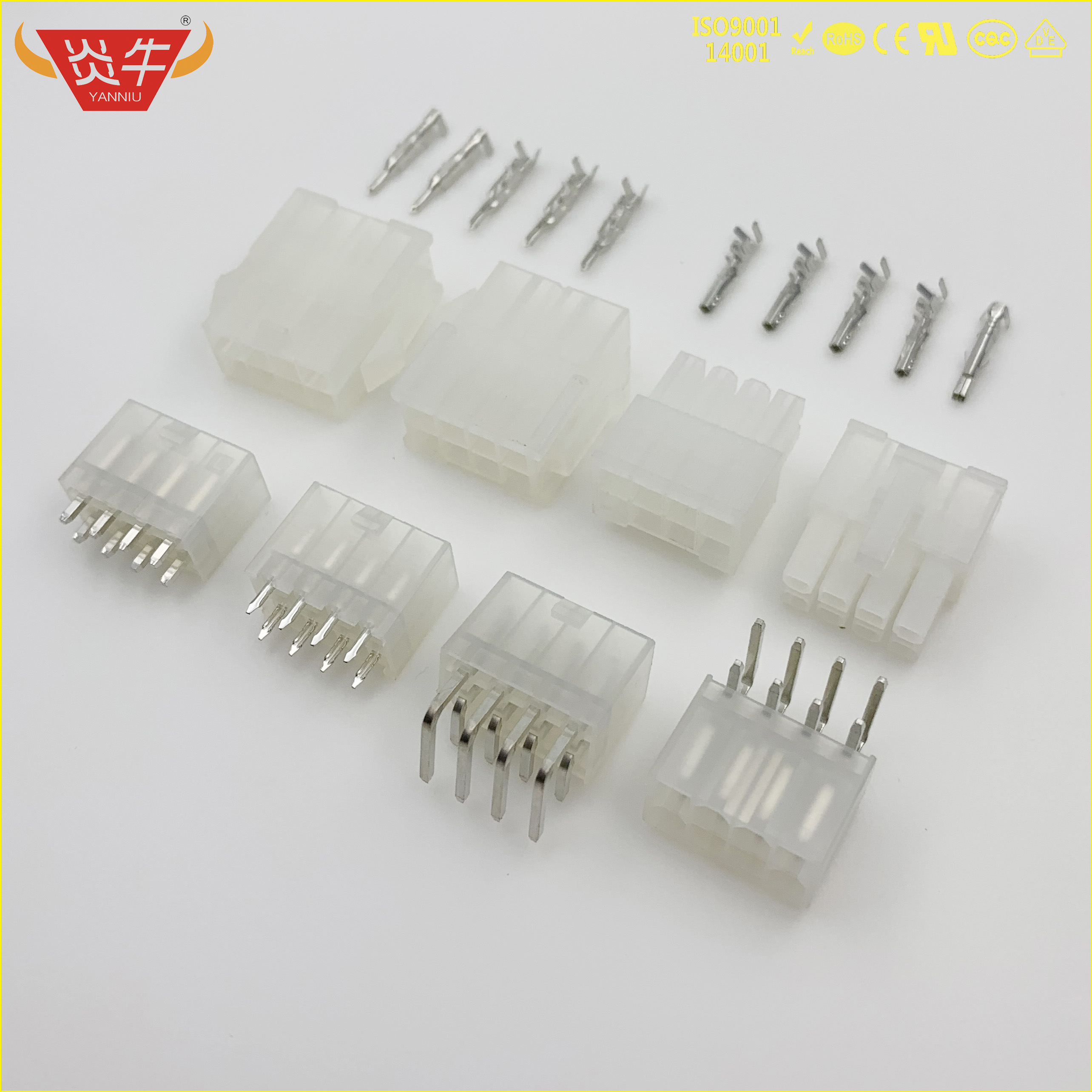 <font><b>5557</b></font> 5559 5569 5566 4.2 DOUBLE ROW WHITE STRIP CONNECTOR <font><b>4.2mm</b></font> HOUSING WAFER TERMINAL HX42000-RT HX4200-R HX42001-PT HX42001-P image