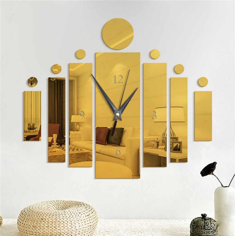 בציר PS שעון מראה קיר מדבקות לסלון 2020 אופנה DIY טפט עיצוב הבית חדש מיטת חדר קיר מדבקה