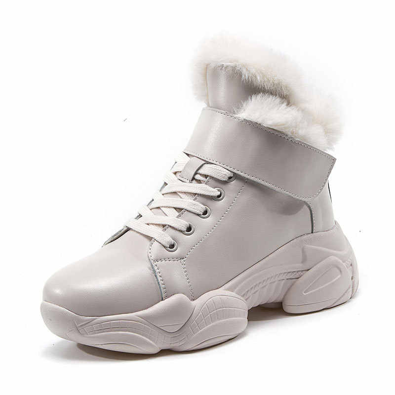 สิทธิบัตรหนังผู้หญิงฤดูหนาวรองเท้าบูทรอบ Toe ข้อเท้ารองเท้าสำหรับสตรีขนสัตว์ผู้หญิงรองเท้าส้นรองเท้าบูทผู้หญิง