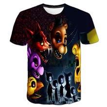 2020 Новая летняя футболка с рисунком fnat для мальчиков принтом