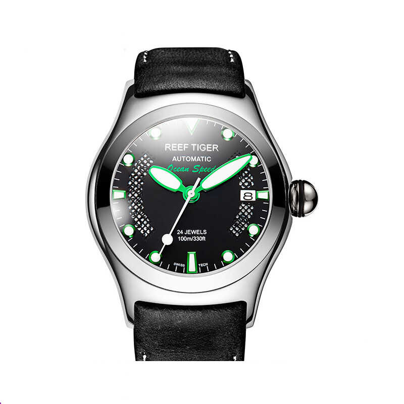 男性スポーツ腕時計自動、メンズ腕時計リーフ虎の男の高級ドレス防水発光腕時計リロイ hombre モーダ RGA704
