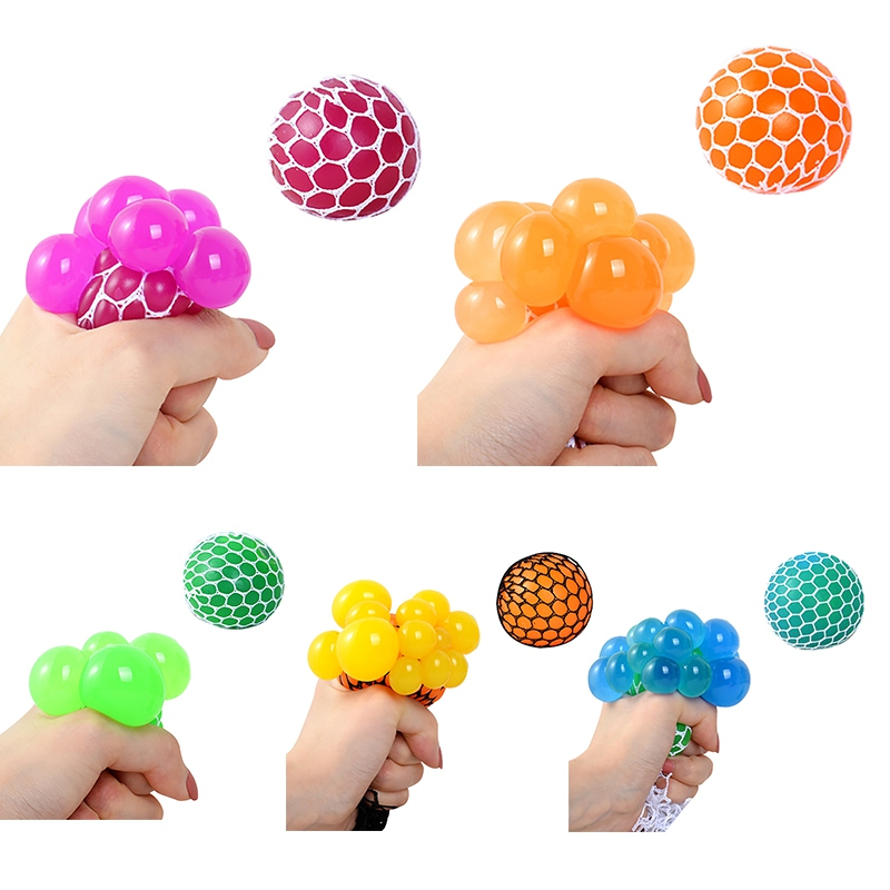The Grape Ball Funny Toys Antistress Grape Ball Autism Mood Squeeze Relief Toys For Stress Fun Creative Gifts Random Colors