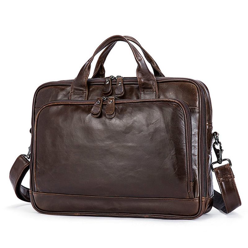 Men Cow Leather Bag Men's Briefcase Office Bags For Men Bag Man's Genuine Leather Laptop Bags Male Tote Briefcase Handbag GW32