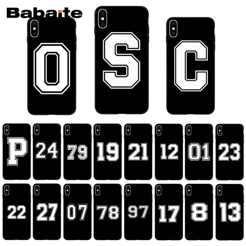 Babaite Football Lucky number And letter Phone Case for iphone 11 Pro 11Pro Max X XS MAX  6 6s 7 7plus 8 8Plus 5 5S SE XR