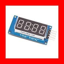 Светодиод дисплей модуль TM1637 для Arduino 7 сегмент 4 бит 0,36 дюйм часы красный анод цифровой трубка четыре последовательный драйвер плата упаковка
