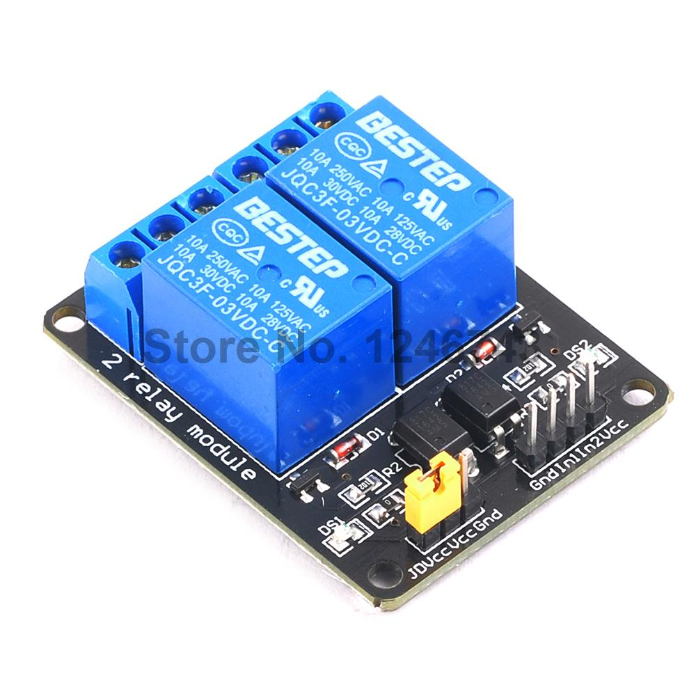 3.3V 3V 2 Channel Relay Module with Optocoupler Relay Output 2 way Relay Module for Arduino