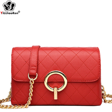 Luxury Brand Plaid Crossbody Bags for Women 100% Genuine Leather Shoulder Bag Fashion Chain Messenger Sac A Main Femme