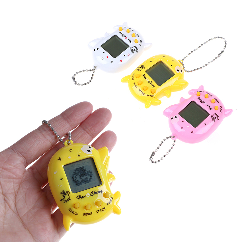 1pc 90s Nostalgic 168 Pets In 1 Virtual Cyber Pet Toy Tamagotchis Electronic Pets Keychains Toys