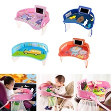 Phone-Holder Travel Car-Tray-Plates for Children Drawing-Playing Pockets Fence Table-Seat
