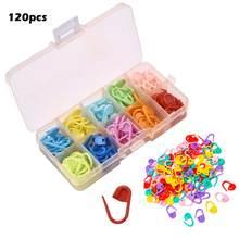 10 cores travando marcadores de ponto colorido plástico tricô crochê travamento marcadores crochê agulha clipe gancho ferramenta com caixa