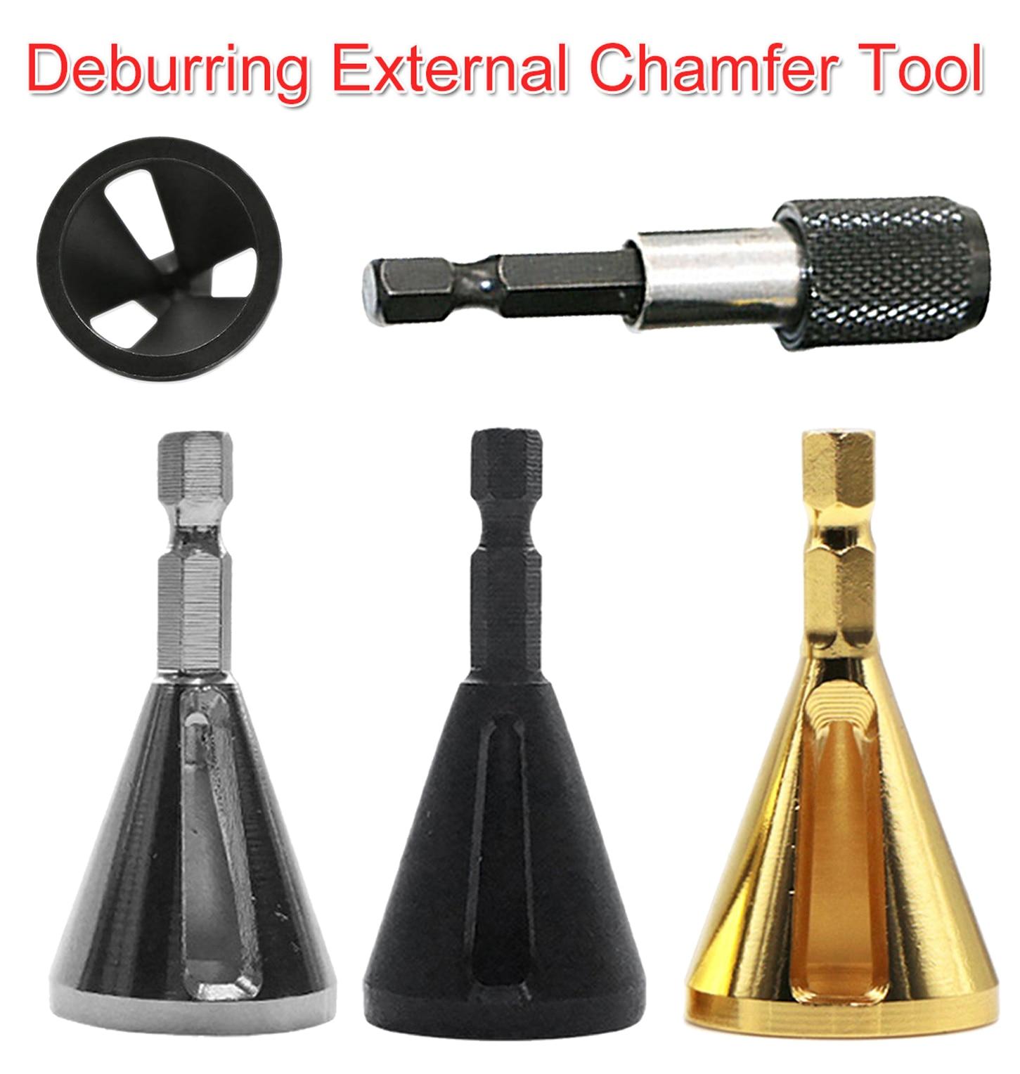 1/4 Hex Steel Deburring External Chamfer Tool High Strength Hardness Drill Bit Remove Burr For Stainless Steel/ Wood/ Plastic