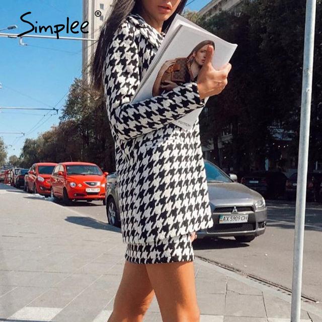 Fashionable Plaid women's suit two piece